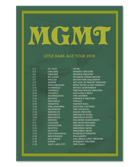 2018 Green North American Tour Poster