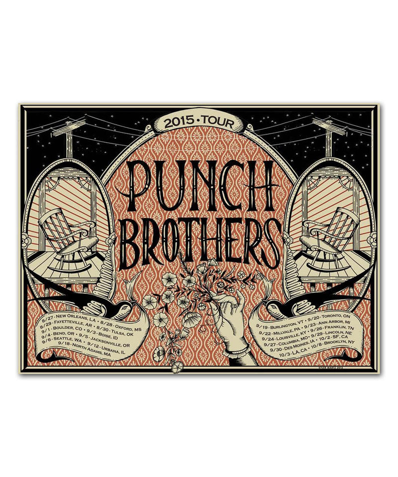 Punch Brothers Summer-Fall Tour '15 Poster