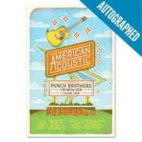 Autographed American Acoustic 2017 Tour Poster