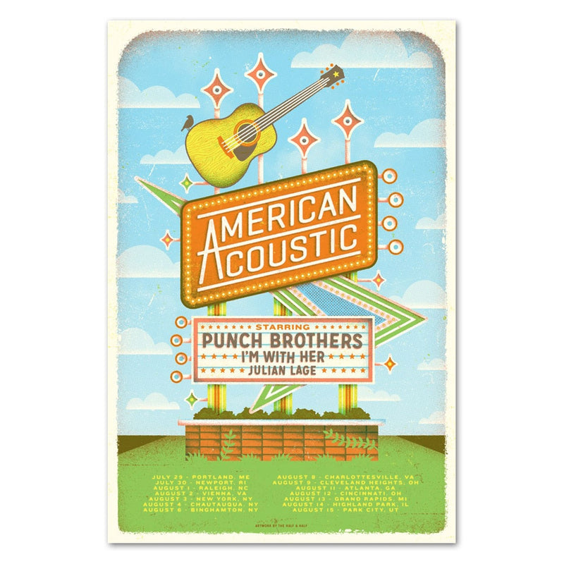 American Acoustic 2017 Tour Poster