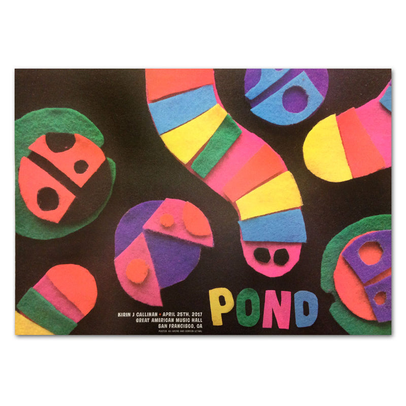 Pond Grand American Music Hall Poster [4/25/17 SF, CA]