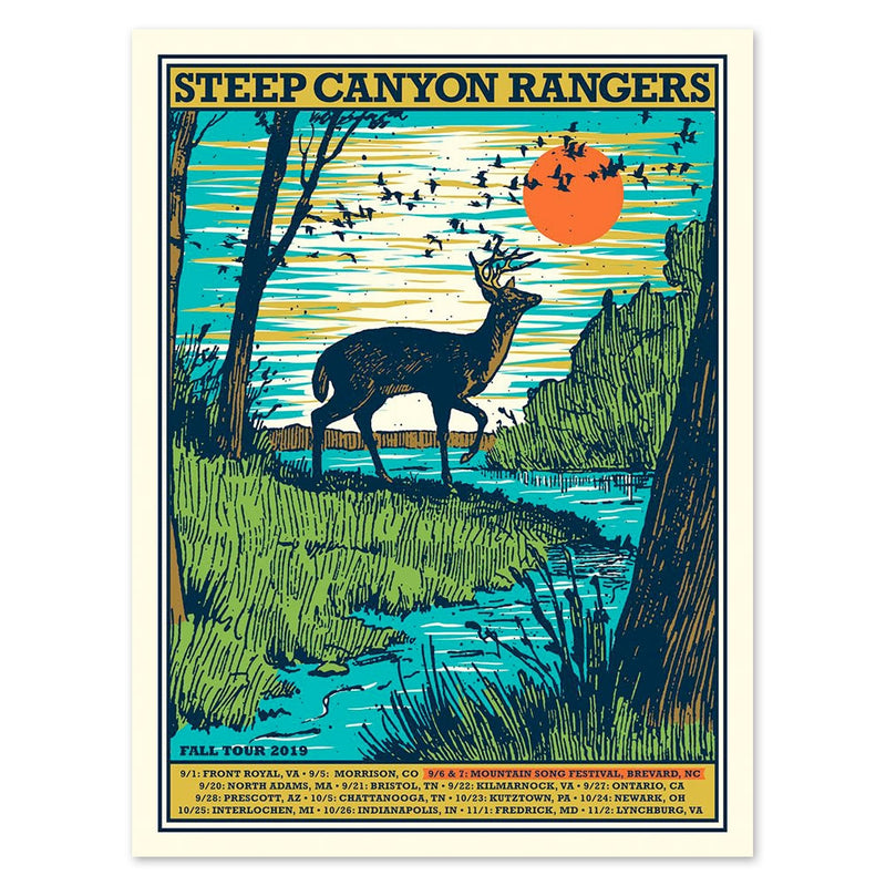 Steep Canyon Rangers Fall 2019 Tour Poster