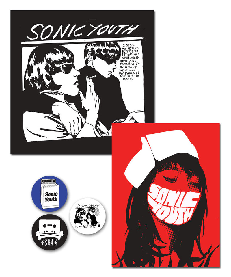 Sonic Youth Goo-Nurse Button Sticker Pack