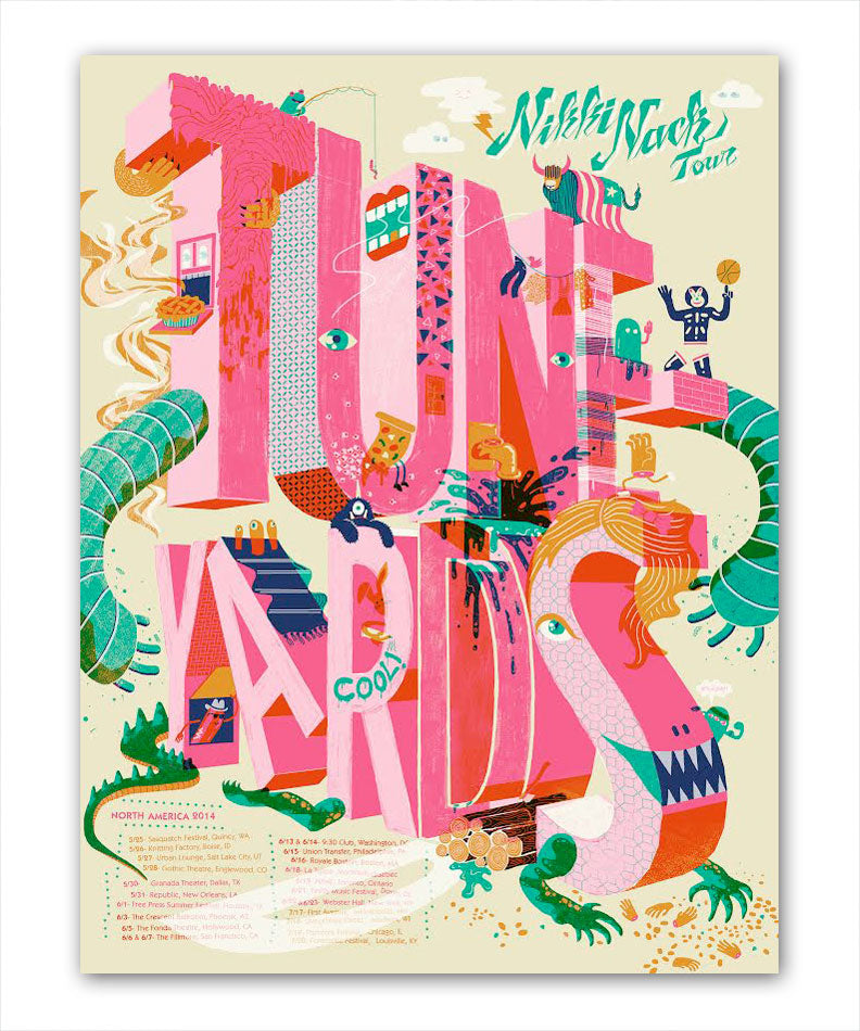 Tuneyards Tune-Yards North American Spring-Summer 2014 Tour Poster