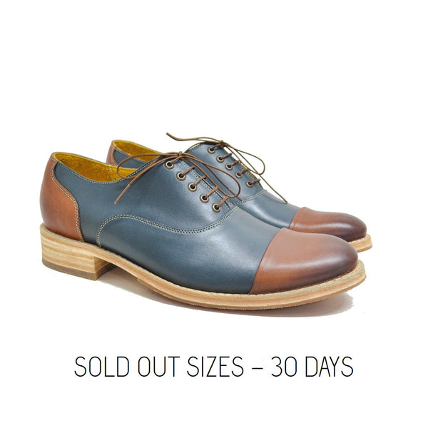 Cap Toe Cognac Blue Sold Out Sizes