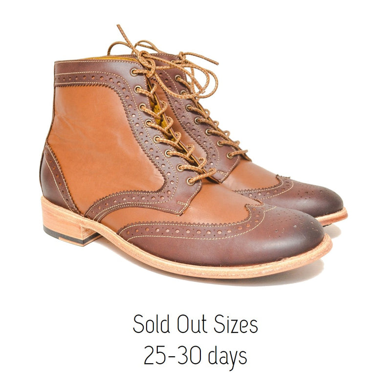 Cambridge Boot Mahogany & Gold / Sold Out Sizes