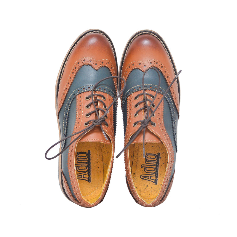 Oxford WT Brogue Cognac - Blue