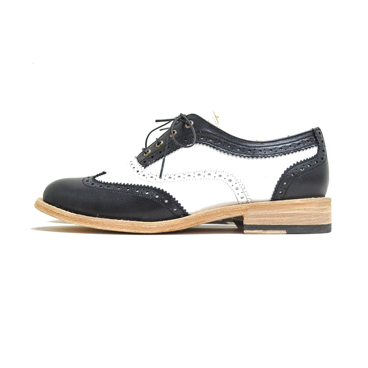 Oxford WT Brogue Black & White
