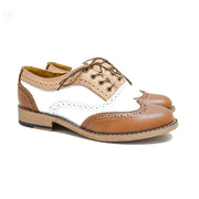 Oxford WT Brogue Gold, White & Tan