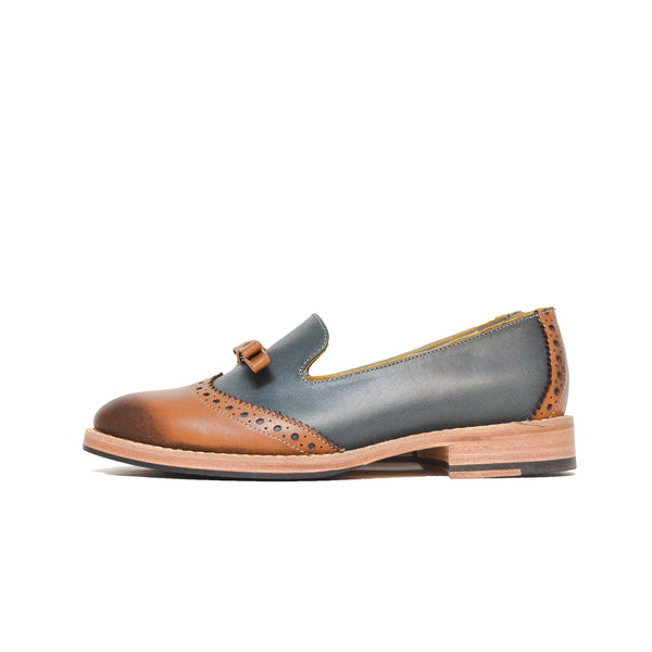 W&B Slipper Cognac - Blue