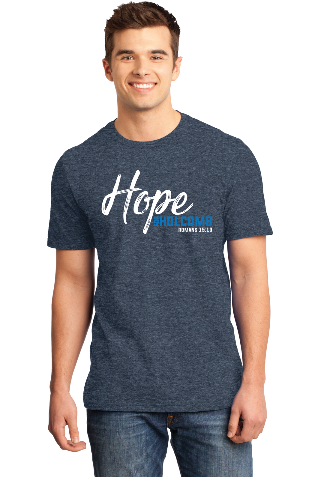 Hope for Holcomb Shirt - Heathered Navy
