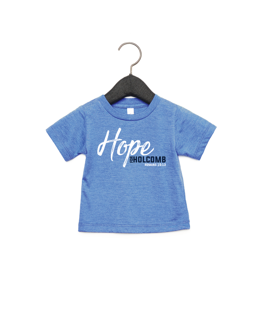 Infant/ Toddler Hope for Holcomb shirt - Heather Columbia Blue