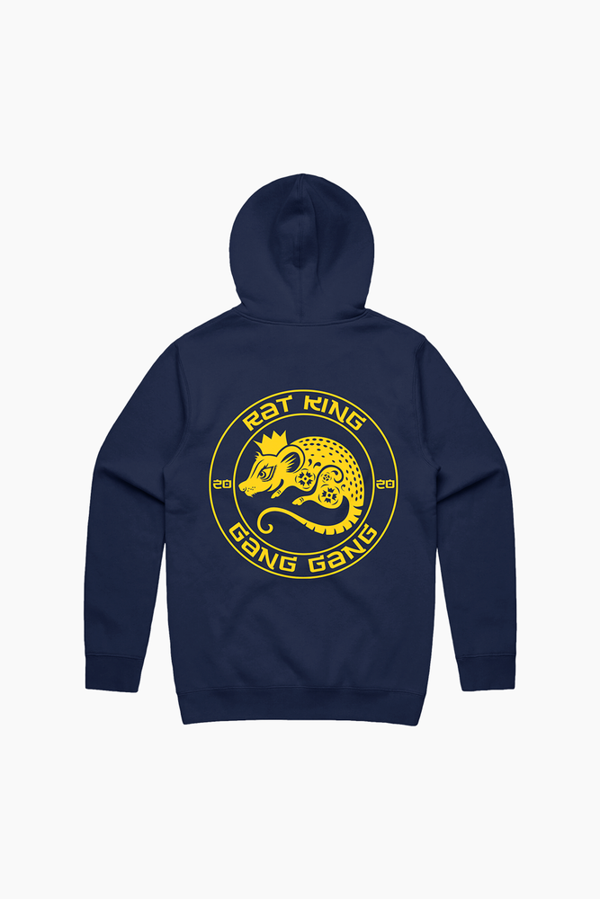 Year Of the Rat King Navy Hoodie