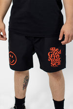 Be Good To Yourself Black Beach Shorts