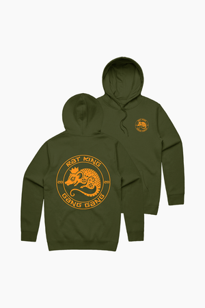 Year Of the Rat King Army Green Hoodie