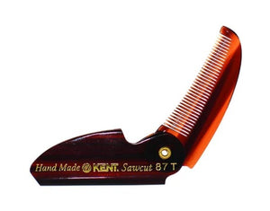 KENT FOLDING POCKET MOUSTACHE COMB
