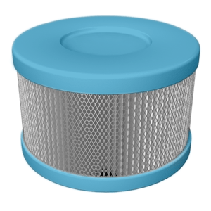 Amaircare Replacement Filter Blue Amaircare Roomaid Mini HEPA Snap On 90-A-04CB-SO 626565300036
