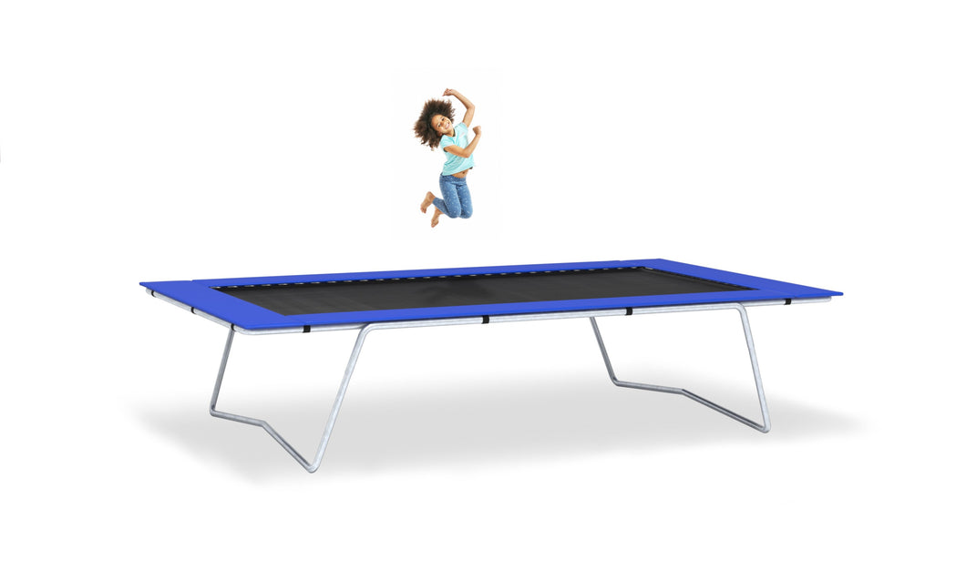 Young girl jumping on 9x15 trampoline