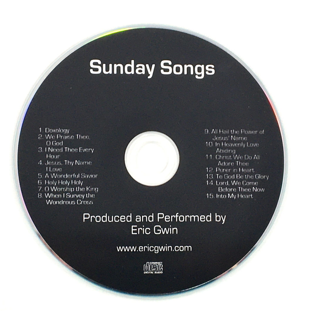 Sunday Songs - Physical CD