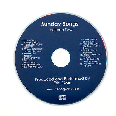Sunday Songs, Volume Two - Physical CD