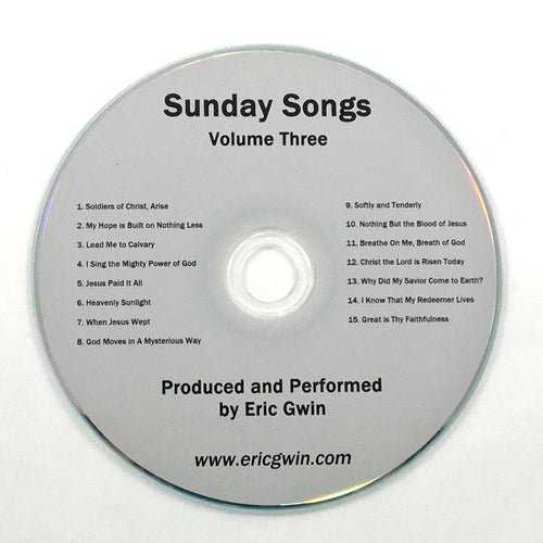 Sunday Songs, Volume Three - Physical CD