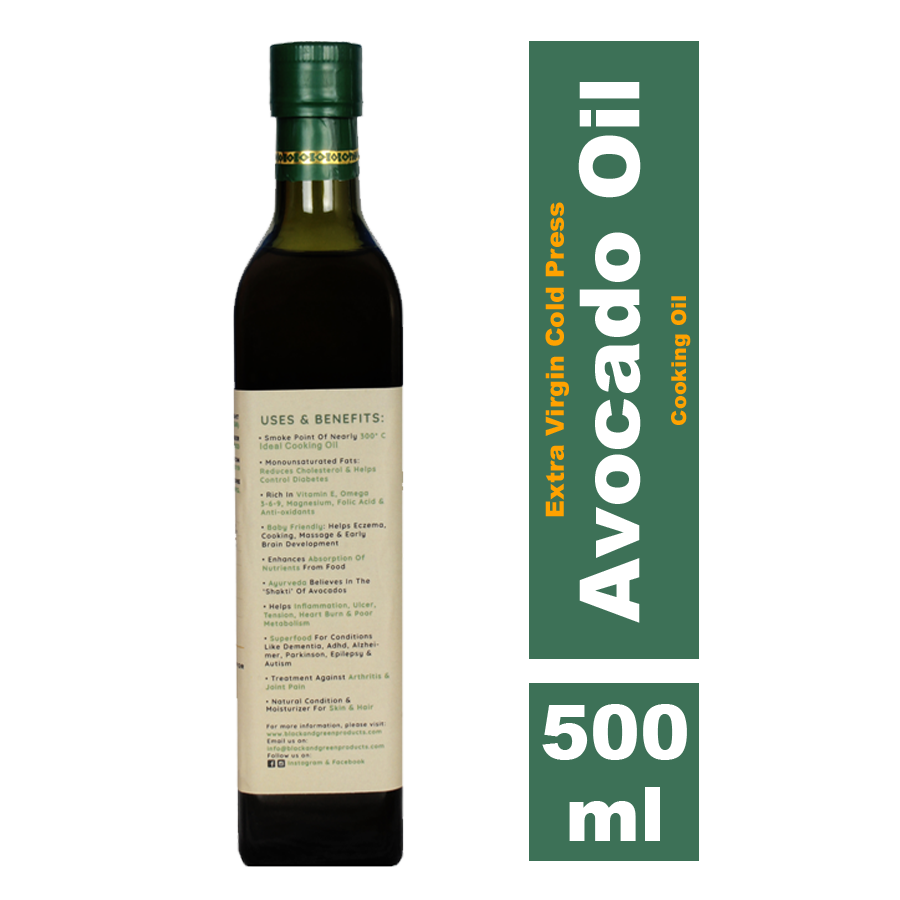 Black & Green Avocado Oil, 500ml