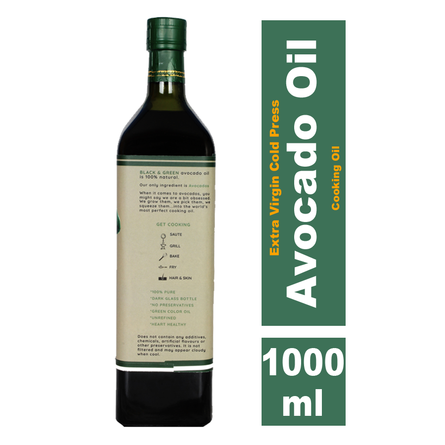 Black & Green Avocado Oil, 1000ml