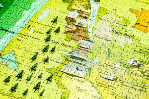The Wines of Bordeaux jigsaw puzzle close up map view