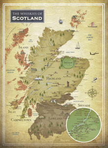 The whiskies of Scotland 500-piece puzzle map