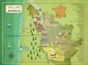 The Wines of Bordeaux jigsaw puzzle map image