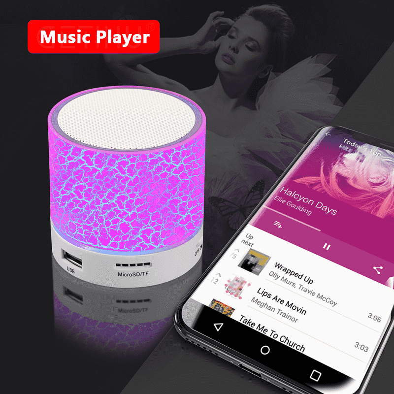 Bluetooth Speaker & LED Music Player
