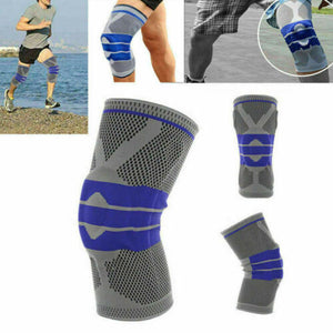 Silicone Knee Brace Medical Support Compression Protection Pads