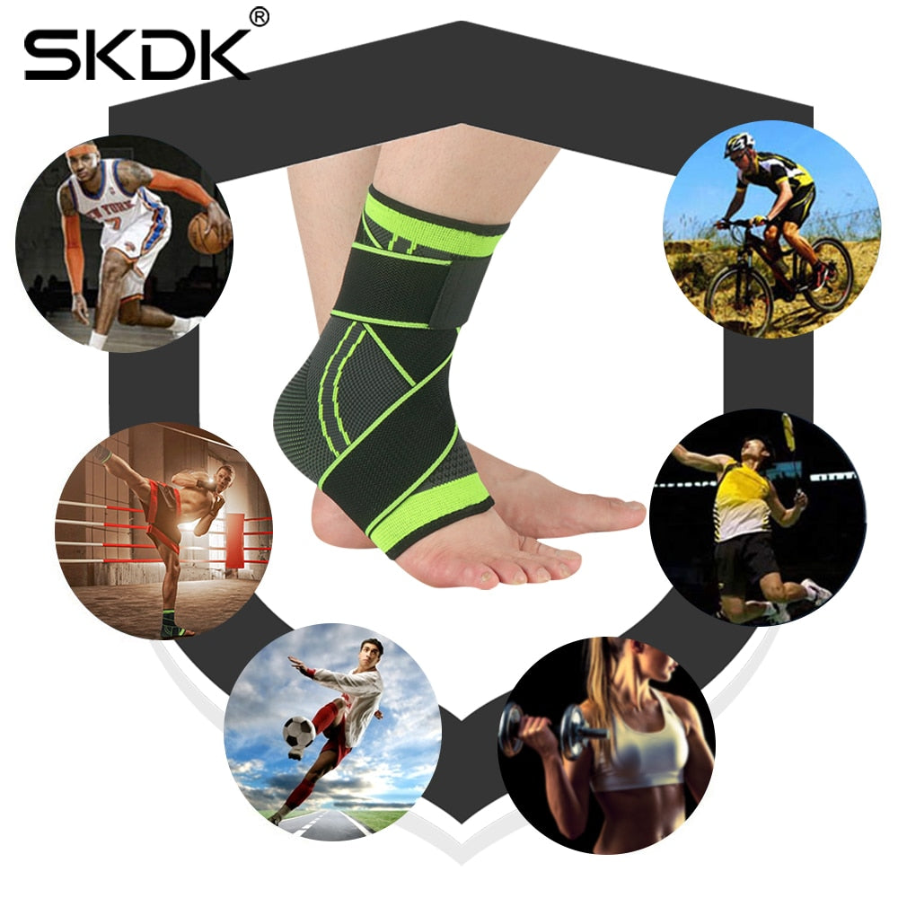 Ankle Support Sports Brace Protector with Strap Belt Elastic