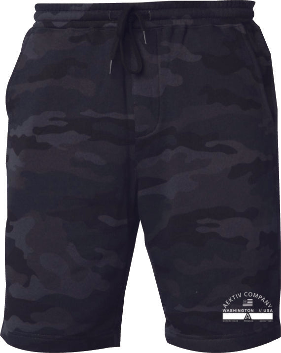 Aektiv sweat shorts - black camo