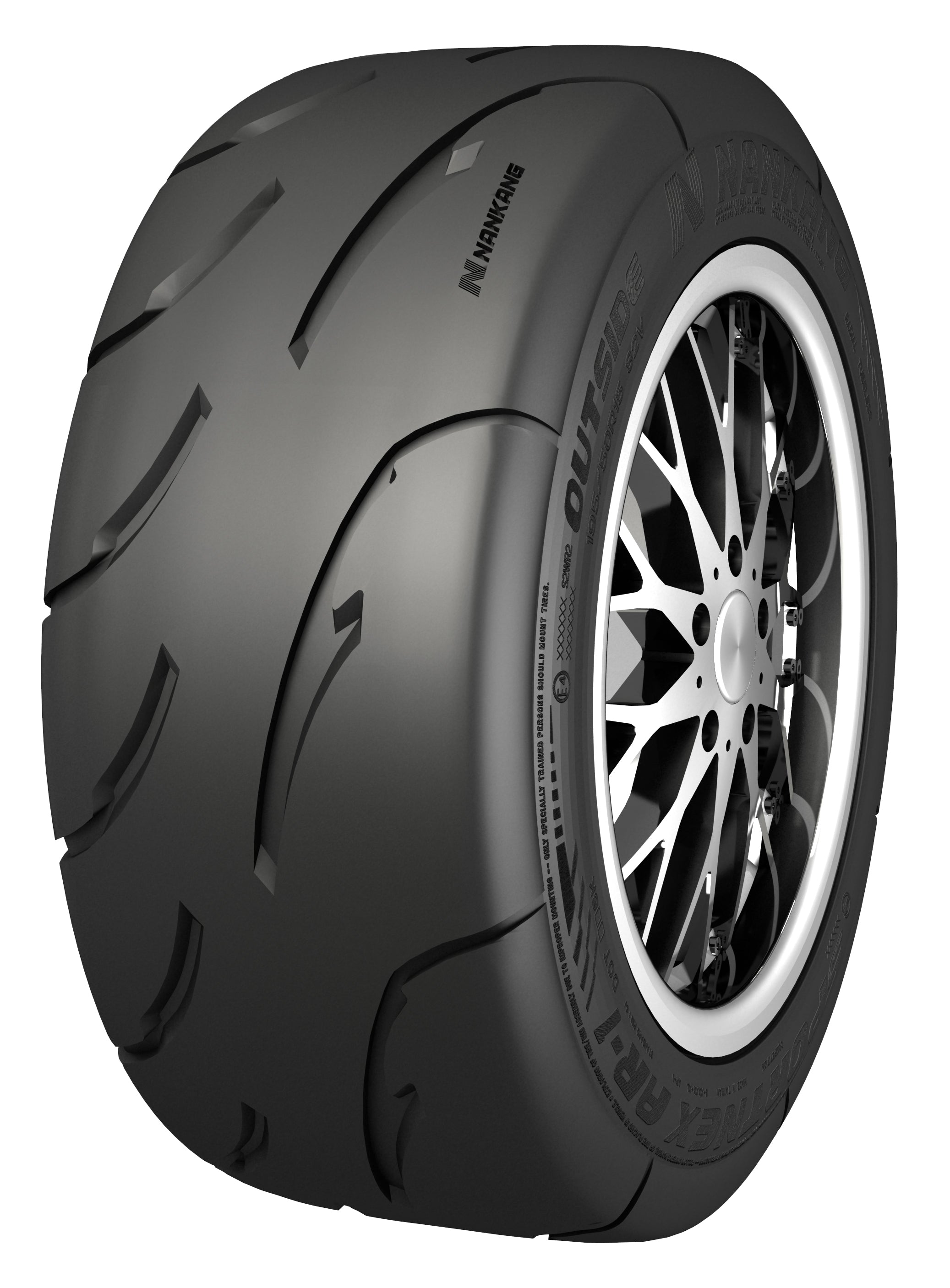 Nankang AR-1 100TW Tire angled on rim