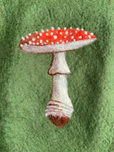 Load image into Gallery viewer, Handfelted Toadstool Christmas Stocking