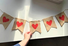 "Load image into Gallery viewer, ""Love Rules"" Bunting"
