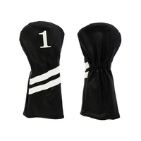 Classic Headcover (Black w/ white racing stripes)