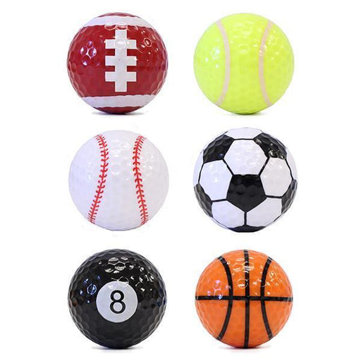 """Sports"" Themed Golf Balls (6-Pack)"