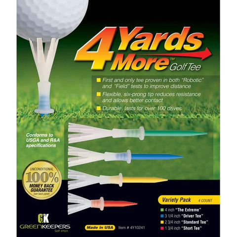 4YardsMore Variety Pack Golf Tees (4ct)