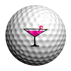 GolfDotz - Pink Cocktails (Personalize Your Golf Ball)