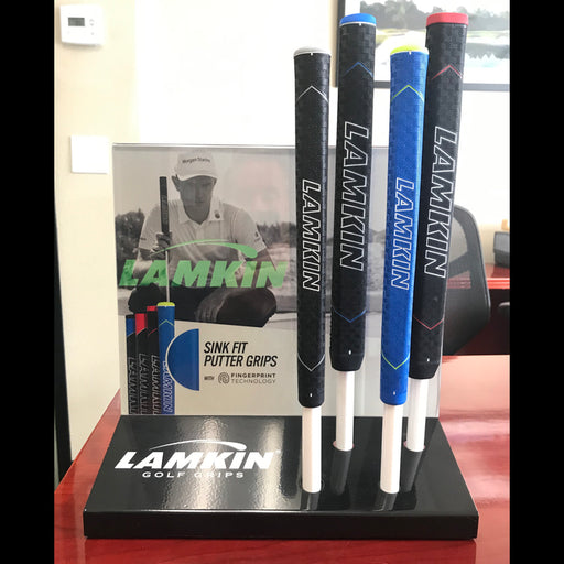 Lamkin SinkFit Putter Grip Display Featuring Justin Rose