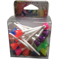 Simarki Plastic White Tees - 74mm (30 pack)