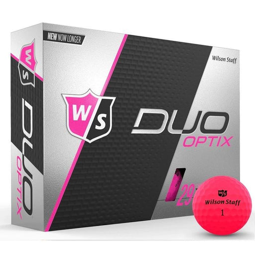 Wilson Staff DUO Soft Optix (12 pack) Golf Balls - Pink