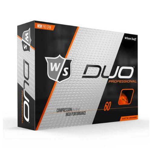 Wilson Staff DUO Professional (12 pack) Golf Balls - Orange
