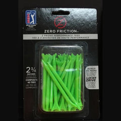 "Zero Friction 3-Prong Tees - Green, 2 3/4"" (40 pk)"