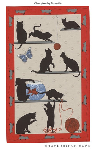Tea Towel - Le Chat Pitre