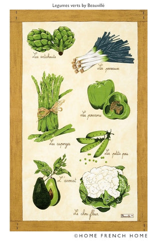 Tea Towel - Legumes Verts