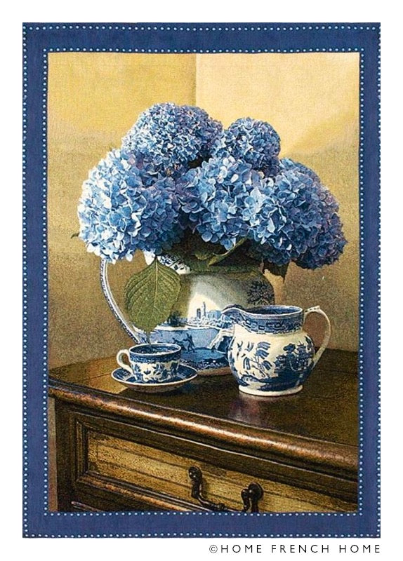 Wall Tapestry - Blue Hydrangeas