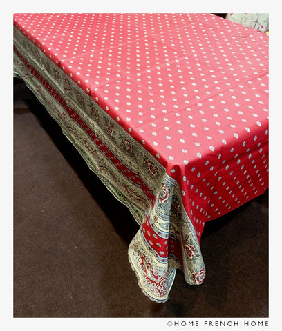 Coated Tablecloth - Avignon Maroon